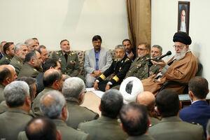 عکس/ دیدار فرماندهان ارتش با رهبر انقلاب