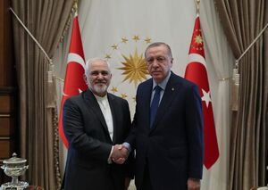 دیدار ظریف با اردوغان