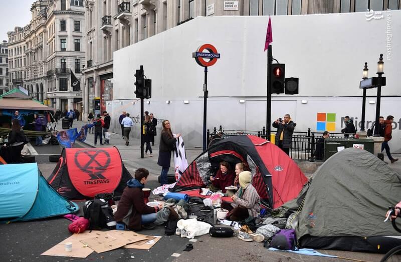 عکس/ بازداشت بیش از ۱۲۰ فعال محیط زیست در لندن - 4