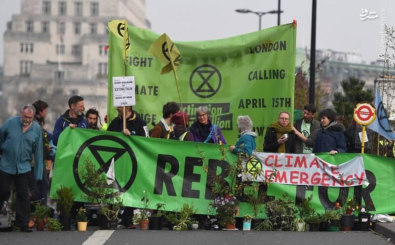 عکس/ بازداشت بیش از ۱۲۰ فعال محیط زیست در لندن - 8
