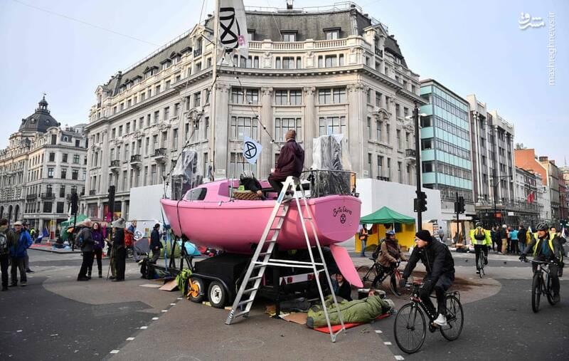عکس/ بازداشت بیش از ۱۲۰ فعال محیط زیست در لندن - 13
