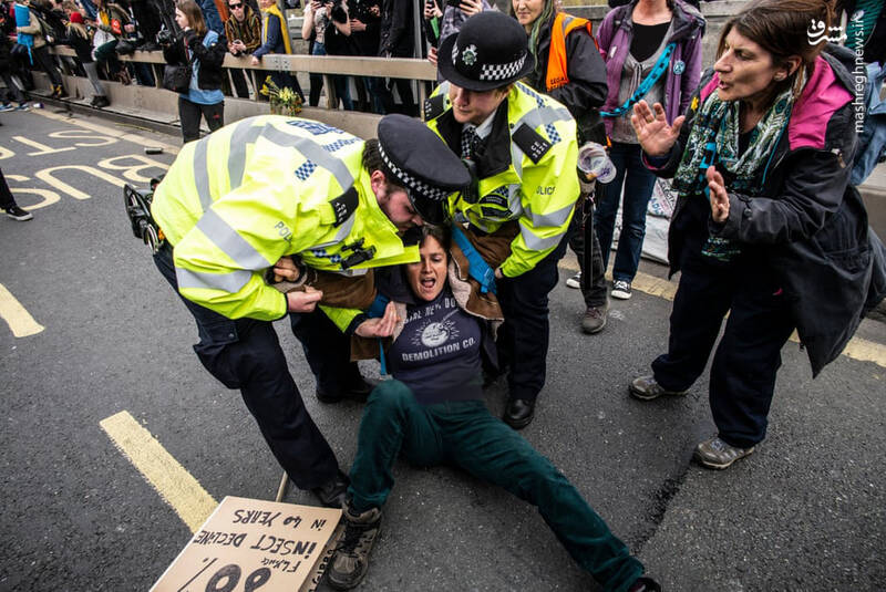 عکس/ بازداشت بیش از ۱۲۰ فعال محیط زیست در لندن - 6