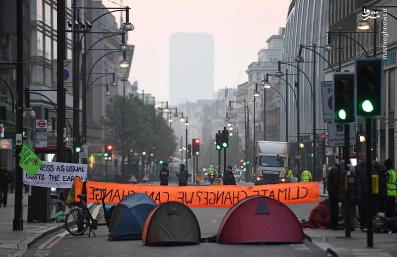 عکس/ بازداشت بیش از ۱۲۰ فعال محیط زیست در لندن - 16