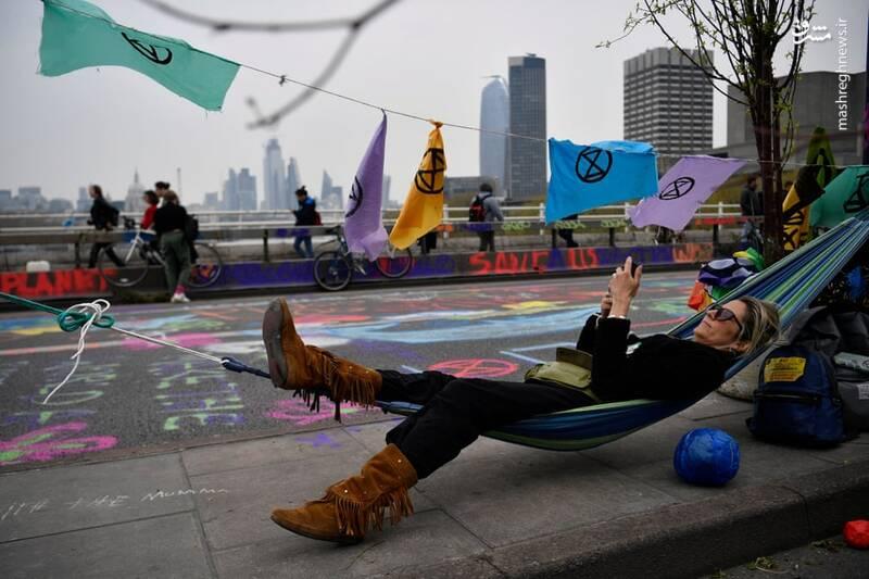 عکس/ بازداشت بیش از ۱۲۰ فعال محیط زیست در لندن - 15