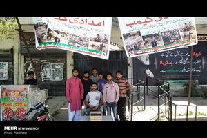 ایستگاههای جمعآوری کمک برای سیلزدگان ایرانی در لاهور پاکستان