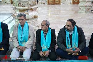 عکس/ حضور هنرمندان در آیین غبارروبی مسجد جمکران