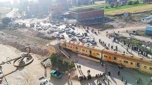 عکس/ خروج قطار مسافربری از ریل در مصر