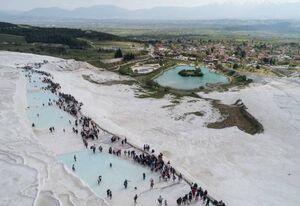 عکس/ جاذبه گردشگری نمکی در ترکیه