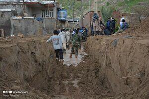 عکس/ روستای «بابازید» همچنان مدفون در گلولای