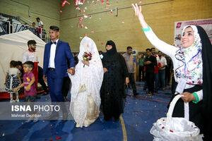 عکس/ جشن ازدواج دو زوج سیل زده خوزستانی