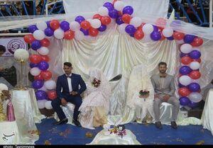 فیلم/ جشن ازدواج در محل اسکان سیل زدهها