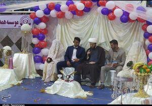 ازدواج دو زوج سیلزده کمپ اسکان اضطراری +عکس