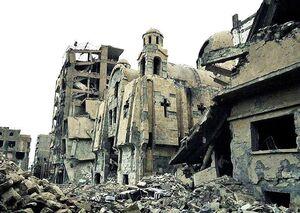 شمع برای نوتردام، موشک برای کلیسای سوریه +عکس