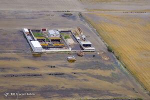 تصاویر هوایی جدید از آبگرفتگی در بخشهایی از آق قلا