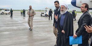 پایان چند ساعته حضور روحانی در لرستان/ خوزستان منتظر کاروان رئیس جمهور