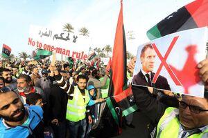 عکس/ تظاهرات علیه حفتر در پایتخت لیبی