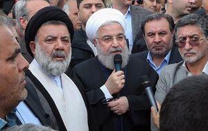 فیلم/ روحانی در پلدختر: دولت در کنار شماست