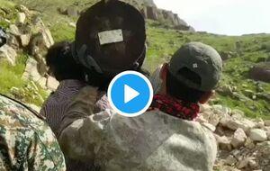 حمل تیربرقهای ۵۰۰ کیلویی توسط بسیجیها +فیلم