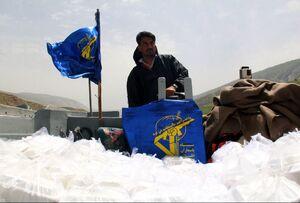 عکس/ تداوم کمک رسانی به سیل زدگان