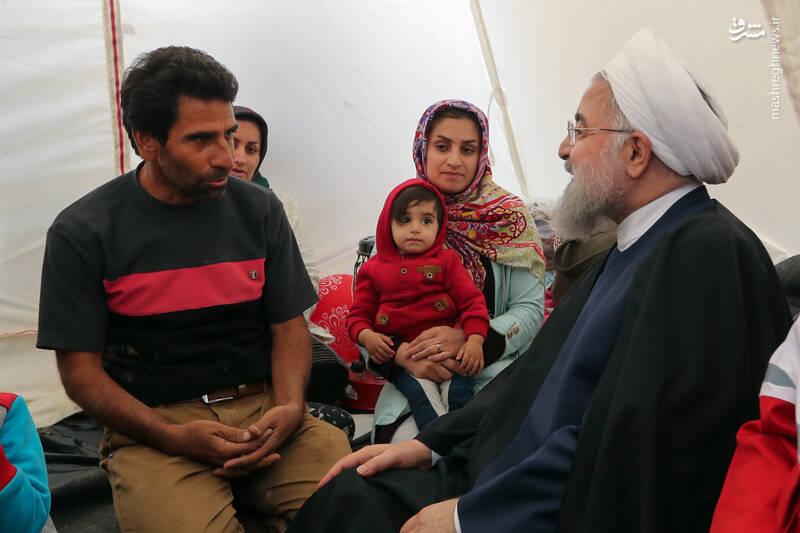 بازدید روحانی از روستای چممهر