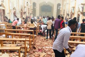 فیلم/ کلیسای سریلانکا پس از انفجار مرگبار