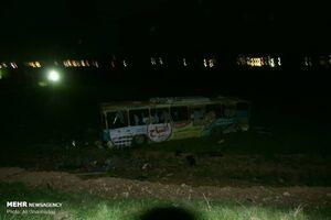 واژگونی اتوبوس در محور دورود- خرمآباد