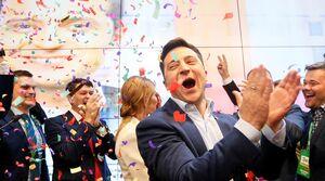 فیلم/ کُمِدین اوکراینی رئیس جمهور شد!