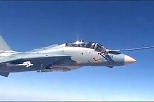 فیلم/ لحظه سوختگیری هوایی جنگنده ارتش