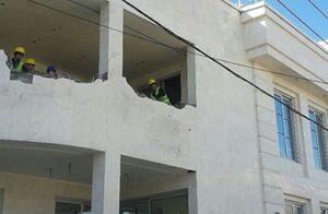 فیلم/ تخریب ویلای بزرگ غیر مجاز در رشت
