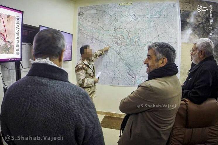 تصویری دیده نشده از سرلشکر جعفری در نبرد با داعش