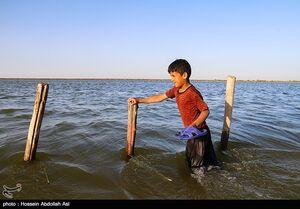 عکس/ سیلاب در روستای حدبه شادگان