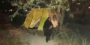 زوج امدادرسانِ همراه حاج احمد متوسلیان +عکس