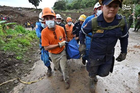 عکس/ 28کشته درپی رانش زمین در کلمبیا