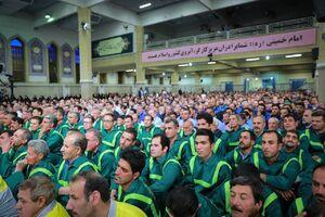 عکس/ حضور کارگران شهرداری در دیدار امروز رهبری