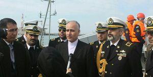 ورود ناوگروه صلح و دوستی ایران به بندر آکتائو قزاقستان