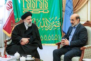 عکس/ دیدار رئیس صداوسیما با حجتالاسلام رئیسی