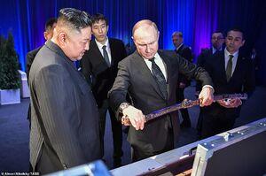هدیه رهبر کرهشمالی به پوتین +عکس