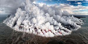 تصویر هولناک از یک آتشفشان