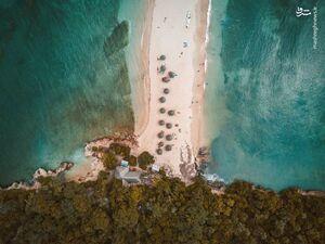 تصویر هوایی زیبا از ساحل تانزانیا