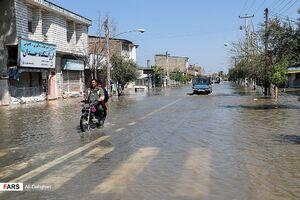 """تصاویر جدید از سیلاب در """"آققلا"""""""