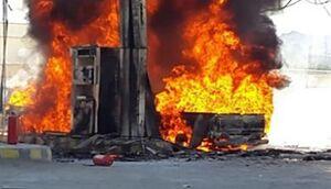 آتش سوزی خودرو در جایگاه سوخت آستارا +فیلم