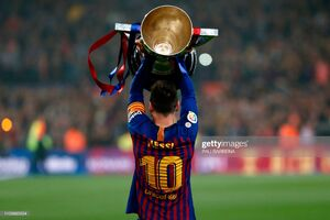 جشن قهرمانی بارسلونا در نیوکمپ