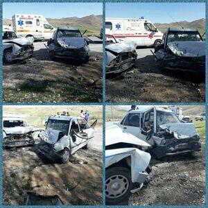 عکس/ تصادف مرگبار یک پراید با وانت