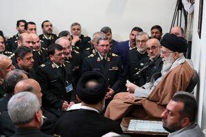 عکس/ دیدار فرماندهان نیروی انتظامی با رهبرانقلاب