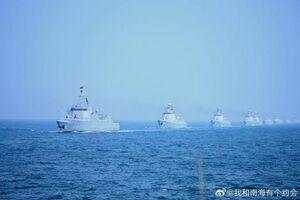 فیلم/ رژه بزرگ دریایی ارتش چین