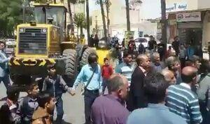 ماجرای درگیری پلیس با عوامل شهرداری کوهدشت +فیلم