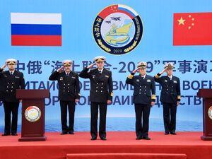 عکس/ رزمایش مشترک دریایی چین و روسیه