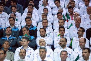 عکس/ حضور روحانی در مراسم ملی قدردانی از کارگران