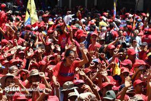 فیلم/ جشن ونزوئلاییها پس از شکست کودتا
