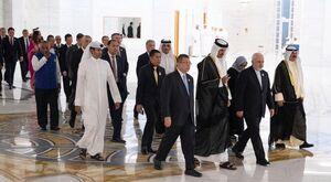 حضور ظریف در ضیافت شام امیر قطر